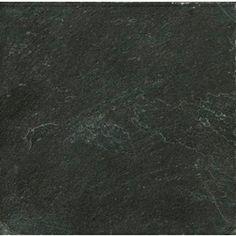 Emser�11.81-in x 11.81-in Midnight Black Natural Slate Floor Tile
