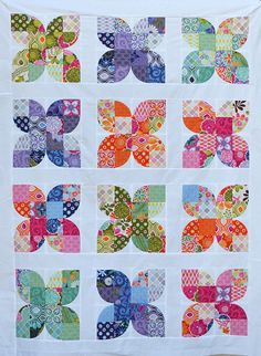 Butterflies - top done by shecanquilt, via Flickr