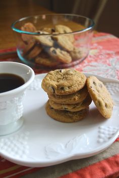 Classic Chocolate Chip Cookies (With a Twist) ~ Yummy. Classical chocolate chip cookie taste and texture.