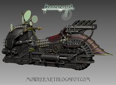 Steampunk Motorcycle: The Gyrostator