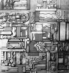 Eduardo Paolozzi, Study for Cleish Ceiling, 1973 Eduardo Paolozzi, Sculpture Art, Sculptures, A Level Art, Ceramics Projects, Gcse Art, Textures Patterns, Metal Art, Art Lessons