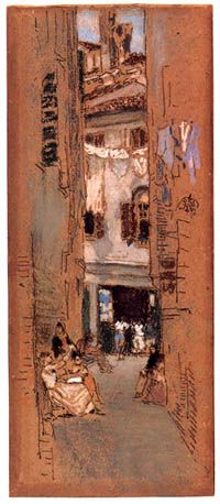 James McNeill Whistler Beadstringers, 1880 chalk and pastel on brown paper 10-13/16 x 4-1/2 in. © 2003 The Corcoran Gallery of Art