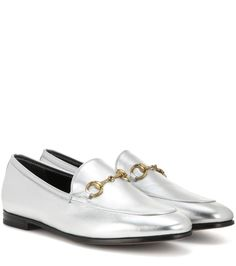 mytheresa.com - Jordaan metallic leather loafers - Luxury Fashion for Women / Designer clothing, shoes, bags