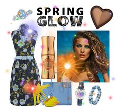 """Spring glow"" by ashdlicious ❤ liked on Polyvore featuring beauty, Lancôme, Benefit, French Connection, Yves Saint Laurent, Jeckerson, Charlotte Olympia, John Lewis, Chopard and Napier"