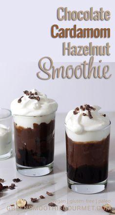 Chocolate Hazelnut Cardamom Smoothie