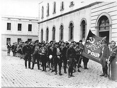 Communist fighters in Barcelona. Spanish Civil war.
