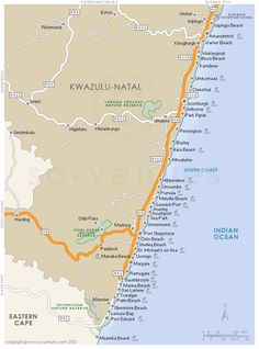 KwaZulu Natal Regional Map | HOLIDAY | Pinterest | Kwazulu natal
