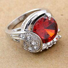 Costume Jewelry Cocktail Vintage Style CZ Ring