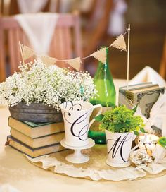 What a beautiful idea for centrepiece