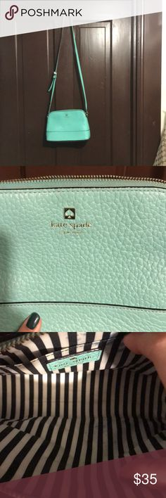 Teal Kate Spade cross body bag Mid sized teal kate spade bag kate spade Bags Crossbody Bags