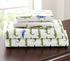 Gator Sheeting | Pottery Barn Kids Twin Sized Sheets $60 Pillowcase $15
