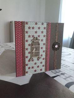 """Carte double """"La cage aux oiseaux"""" format: 14 x 14 cm , pièce unique. : Cartes par fabienne-botte"""