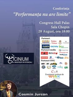 """Conferinta """"Performanta nu are limite"""" – Cosmin Jurcan"""