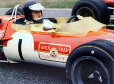...poor Jimmy CLARK in the Lotus waits for the start of his fatal race...