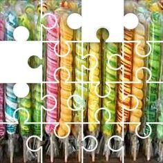 Candy sticks Jigsaw Puzzle, 67 Piece Classic.