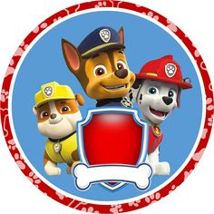 Paw Patrol in Red and Blue: Free Printable Party Kit. - Oh My Fiesta! in english Paw Patrol Party, Paw Patrol Birthday, Party Kit, Personajes Paw Patrol, Imprimibles Paw Patrol, Paw Patrol Decorations, Paw Patrol Cake Toppers, Cumple Paw Patrol, Party Printables