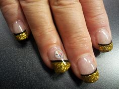 Steeler nails   Steelers   Pinterest   Nails