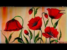 Easy Impasto Poppies Palette Knife Techniques Acrylic Painting Tutorial LIVE Step by Step Lesson Poppy Flower Painting, Acrylic Painting Flowers, Acrylic Painting For Beginners, Acrylic Painting Techniques, Acrylic Painting Canvas, Flower Art, Poppy Flowers, Flower Paintings, Painting Lessons