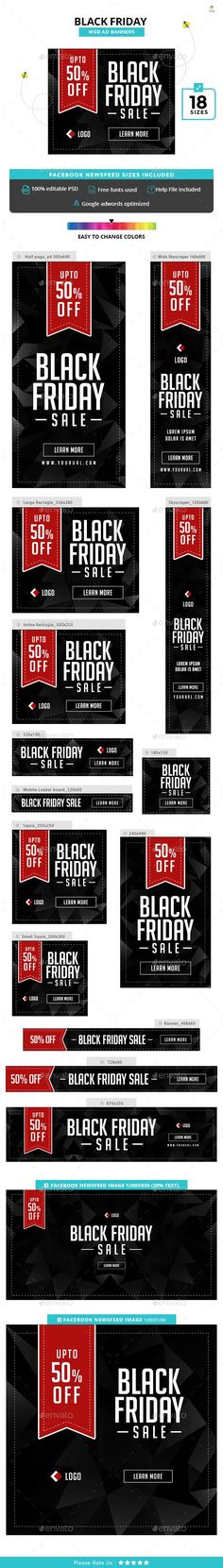 Black Friday Banners - #Banners & Ads #Web Elements