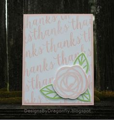 Designs by Dragonfly: Thank you Card ~ Just Add Pink