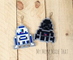 My Mom Made That: Choose A Side Star Wars Perler Bead Bag Tags (Perfect for a backpack or sports bag)