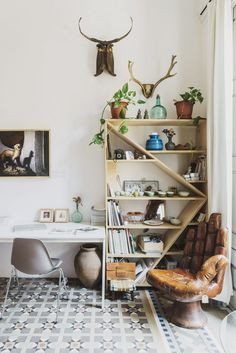 bohemian work space | Andrew Trotter & Mari Luz Vidal's apartment and studio in Barcelona