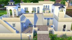 Greek Dream house at Totally Sims via Sims 4 Updates