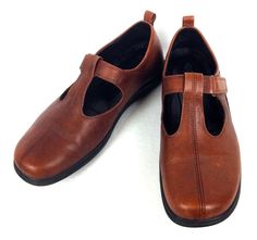 Ecco Shoes Womens 8 39 Brown Leather Comfort Loafers #ECCO #LoafersMoccasins