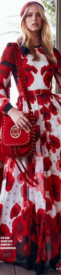 Botanical Fashion, Floral Fashion, Fashion Design, Elie Saab, Moda Floral, Ermanno Scervino, Black White Red, Designer Gowns, Cynthia Rowley