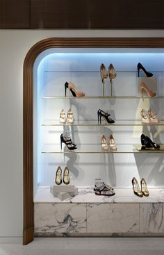 Harrods Shoe Salon — Shed — Interior Architecture & Design Shed Interior, Retail Interior Design, Boutique Interior Design, Interior Architecture, Shoe Store Design, Shoe Display, Handbag Display, Store Windows, Shoe Boutique