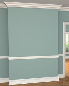 Crown Molding please! I also like the color as a potential living room wall.