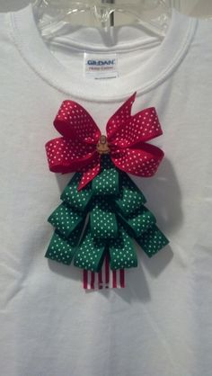 Christmas Tree Shirt Girls Size XS 6/7 Grosgrain Ribbon Holidays Gingerbread Man CUTE on Etsy, $20.00