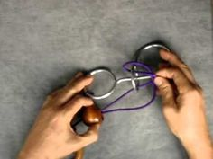 How to Solve the Rope and Ring Puzzle (ひもとリングのパズルのはずし方) - YouTube
