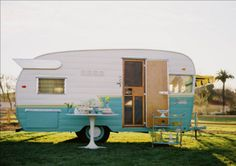 Our little Merna Mae (yes, our Shasta has a name, and believe me, She looks like a Merna!) will soon get her makeover and go on to be the mighty little camper we just know she can be. When she grows up, she wants to be just like this little beauty here, cupcakes and all!