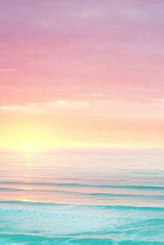 Mar y cielo en tonos pasteles