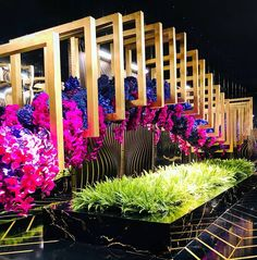 Wedding Stage Design, Wedding Designs, Wedding Ideas, Corporate Event Design, Large Flower Arrangements, Lebanese Wedding, Rainbow Theme, Marquee Wedding, Creative Decor