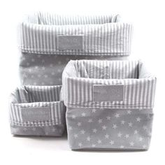 eva and oli storage box Diy Storage Boxes, Fabric Storage, Diy Bebe, Baby Zimmer, Baby Couture, Baby Bedding Sets, Baby Boy Rooms, Baby Room Decor, Silver Stars