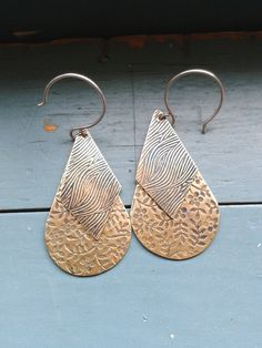 Perfect Mother's day gift! Brass Drop Earrings by NinaRaizel on Etsy, $25.00