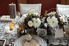 White Winter Creamy Tablescapes
