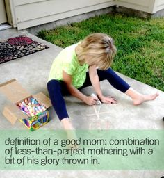 Moms, read this blog :)  Good moms learn to embrace the okay and doing so releases us from nasty mom guilt and actually makes us better mothers.