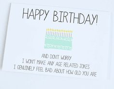 Happy Birthday, Funny Card, Birthday Greeting Card, Birthday Wishes
