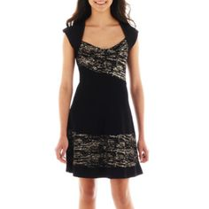 XOXO® Cap-Sleeve Fit-and-Flare Dress   found at @JCPenney