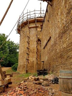 The donjon of the medieval castle. Photo Credit