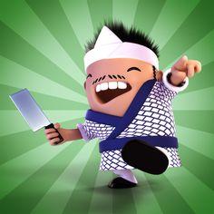 Psycho Sushi Chef by Luke Dwyer, via Behance
