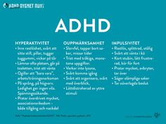 Anhorigutbildning-ADHD7 Adhd And Autism, Add Adhd, Adhd Quotes, Aspergers, Psychiatry, Note To Self, Kids And Parenting, Good To Know, Psychology
