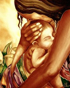madre y bebé en sepia Nota tarjeta