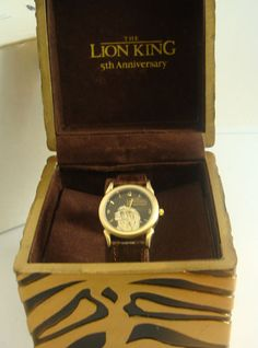 Disney Lion King 5th Anniversary Collectors Watch in Collector Box COA NEW