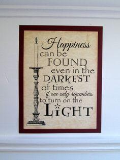 Harry Potter Sign Hogwarts Sign Dumbledore by ShellCottageCard