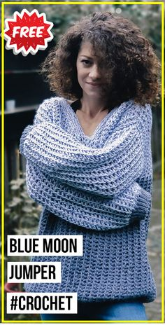 Crochet Jumper Free Pattern, Jumper Patterns, Crochet Shirt, Crochet Jacket, Crochet Stitches Patterns, Crochet Sweaters, Mode Crochet, Easy Crochet, Crochet Tops