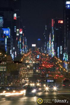 Gangnam Avenue [Seoul, Korea] by Nightview Danny, via Flickr